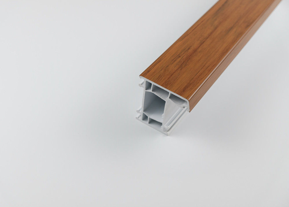 Wooden Effect Extruded Plastic Profiles Matt / Shiny Surface Type Optional