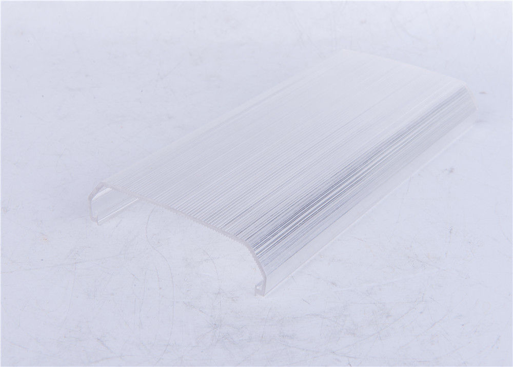 PC Material Made LED Extrusion Diffuser / Lamp Cover ISO9001 Approval supplier