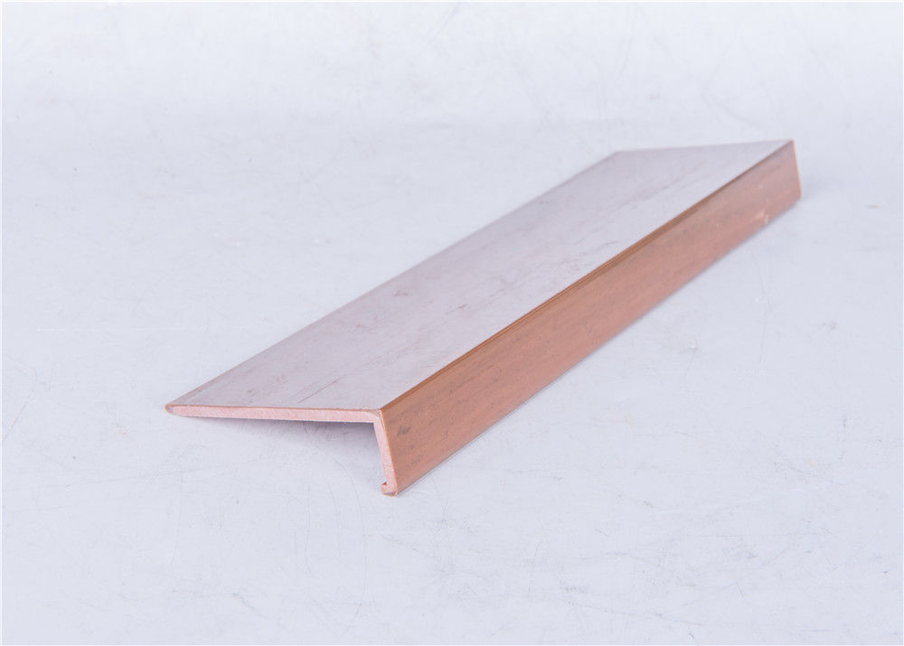Wooden Effect PVC Extrusion Profiles Matt / Shiny Surface Type Optional