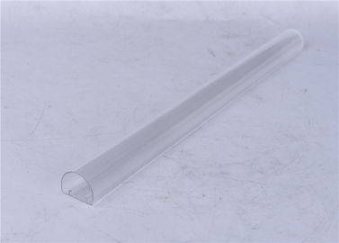 Clear / Milky Plastic Extrusion Profiles , LED Lamp Extruded Plastic Parts