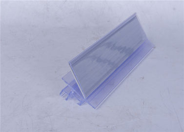 Rigid Transparent Plastic Profiles Moisture Proof For Supermarket Data Strip
