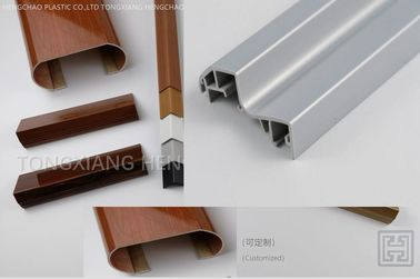 Hot Stamping Pvc U Joint Profile Extrusion Plastic Easy Maintenance / Install